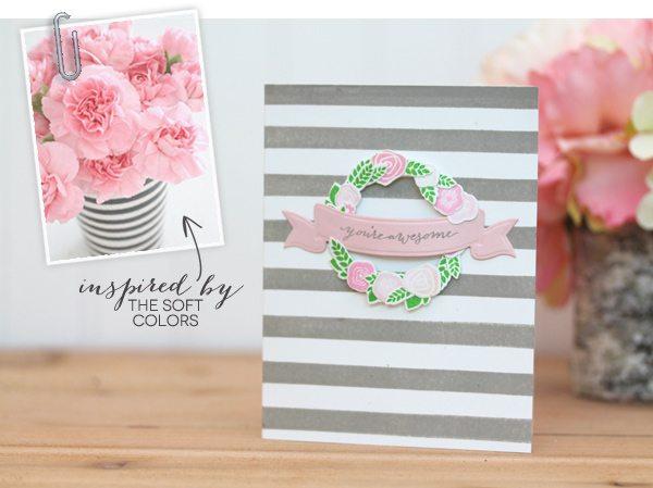 Design Inspired: Floral & Stripes Grey & Pink | Damask Love Blog
