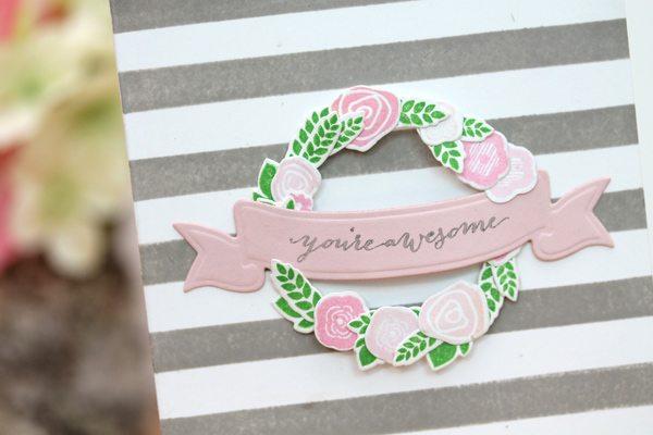Design Inspired: Floral & Stripes Grey & Pink Close | Damask Love Blog