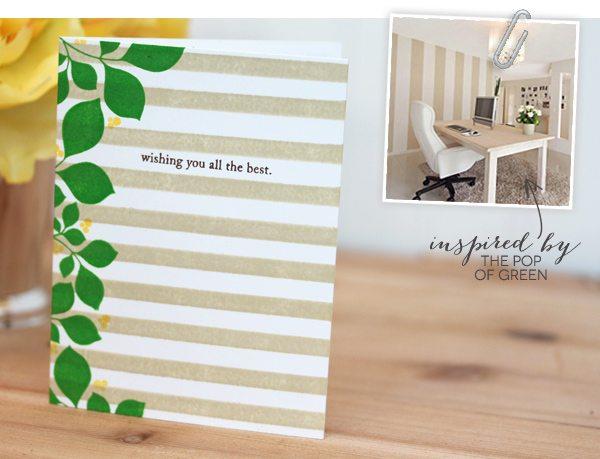 Design Inspired: Floral & Stripes Khaki & Green  | Damask Love Blog