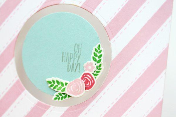 Design Inspired: Floral & Stripes Pink & Teal Close  | Damask Love Blog
