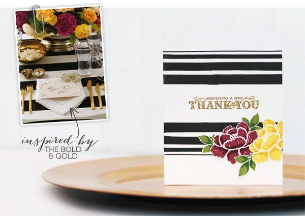 Design Inspired: Floral & Stripes Gold & Bold | Damask Love Blog