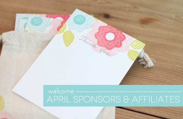 Welcome April Sponsors