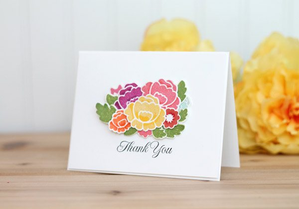 Floral Bud Die Cut Card | Damask Love Blog