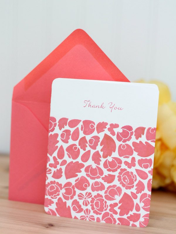 Monochromatic Floral Bud Stationery | Damask Love Blog