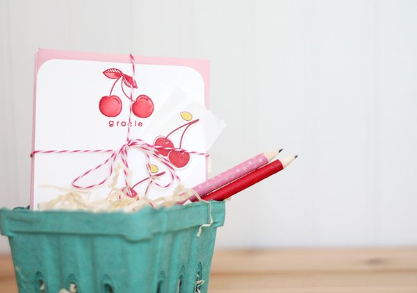 Packaged Cherry Notecards Set