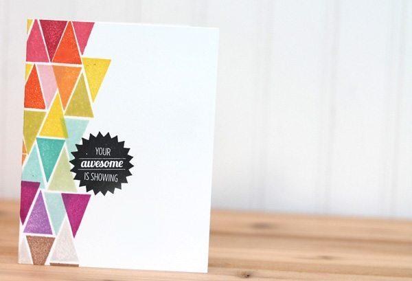 Your Awesome is Showing Card | Damask Love Blog