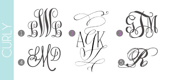Monograms Made Easy: Curly Fonts | Damask Love Blog