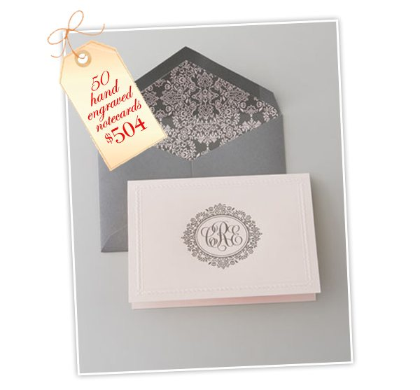 picture about Embossed Stationery known as Substantial Culture Stationery: Inkjet Monogram Notecards Damask Take pleasure in