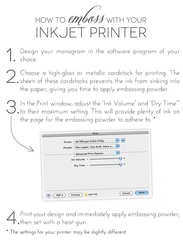How to Emboss with Your Inkjet Printer | Damask Love Blog