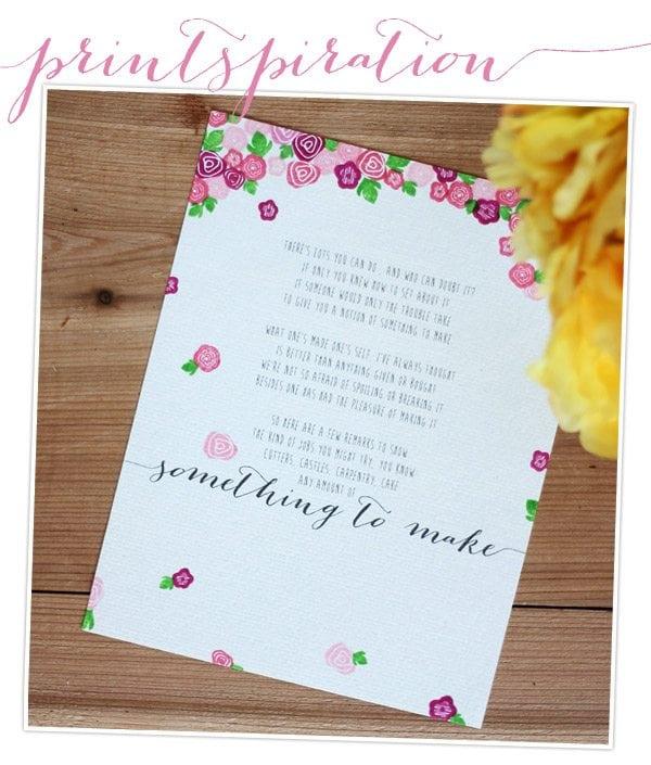 Printspiration: Something To Make