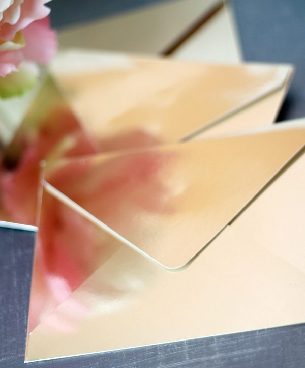 DIY Gold Metallic Envelopes | Damask Love Blog