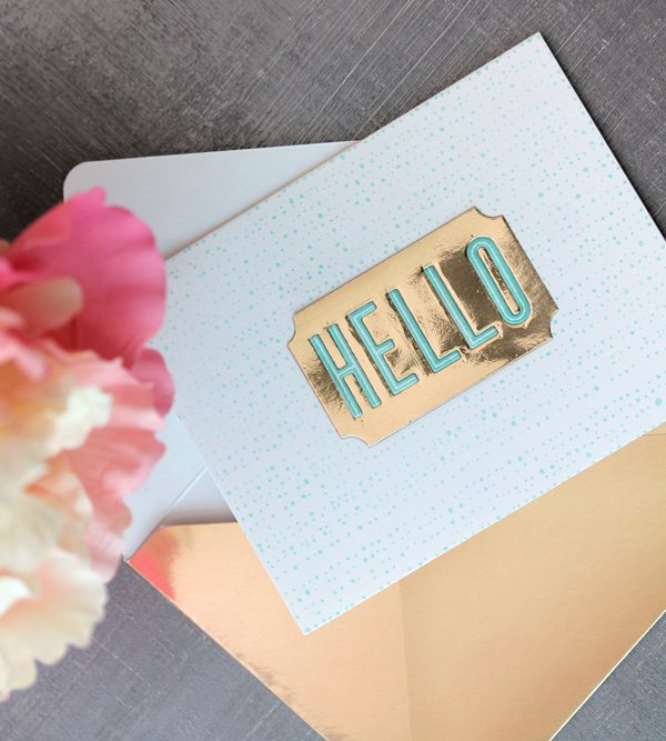 High Society Stationery: Gold Envelopes | Damask Love Blog