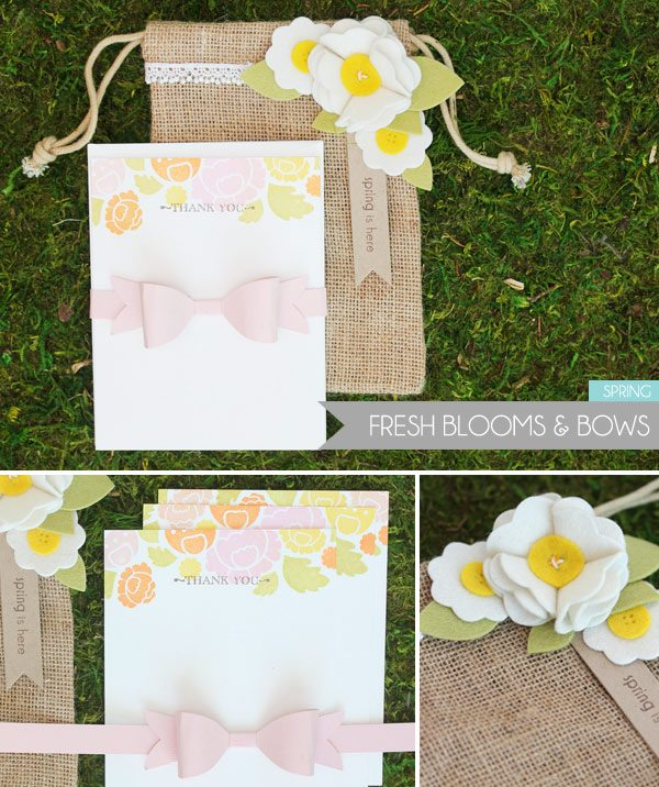 Clear & Simple Stamps Style Watch: Spring Burlap Bag | Damask Love Blog