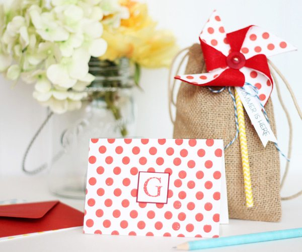 Clear & Simple Stamps Style Watch: Summer Burlap Bag | Damask Love Blog