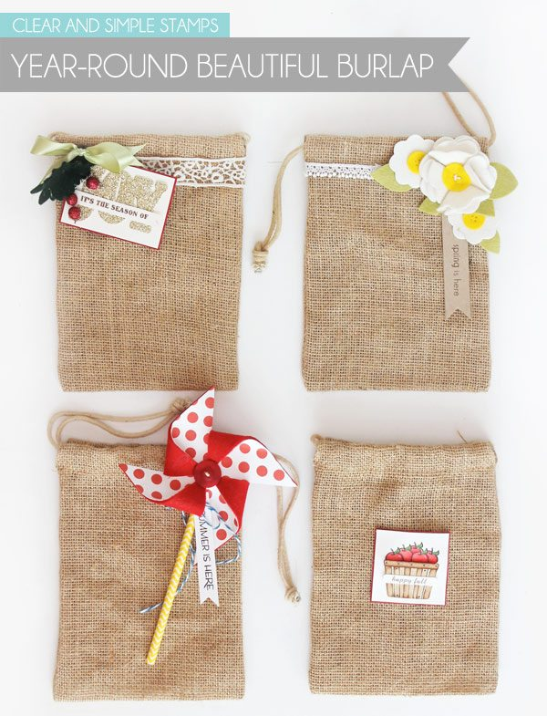 Clear & Simple Stamps Style Watch: Burlap Bag | Damask Love Blog
