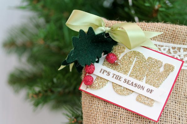 Clear & Simple Stamps Style Watch: Winter Burlap Bag | Damask Love Blog