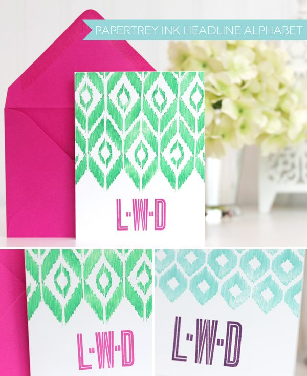 Monograms Made Easy: Favorite Alphabet Stamps | Damask Love Blog