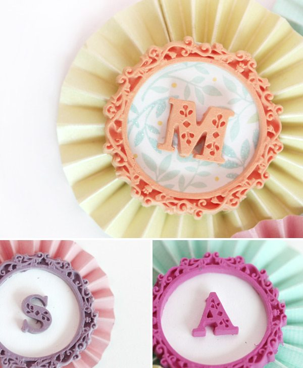 DIY Clay Monogram Medallions with Martha Stewart | Damask Love Blog
