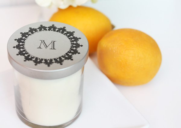 High Society Stationery: DIY Monogrammed Candles | Damask Love Blog