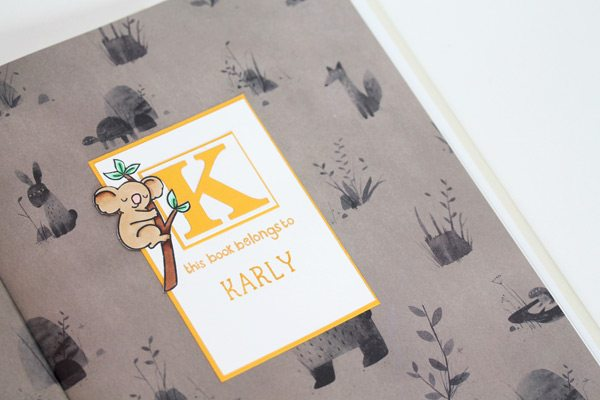 High Society Stationery: Chilldren's Bookplates with Lawn Fawn | Damask Love Blog