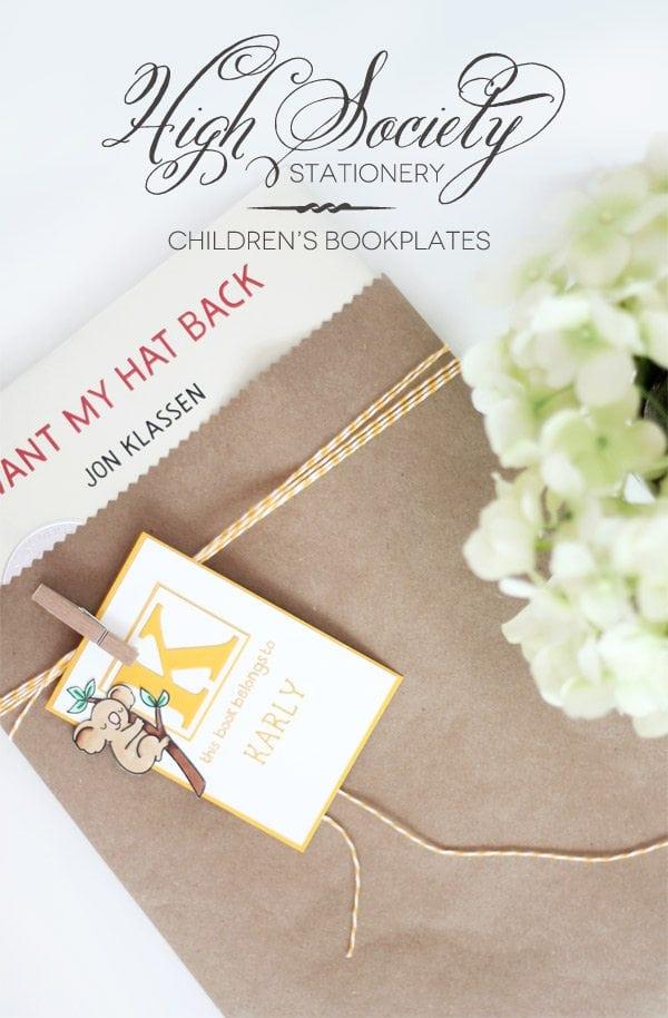 High Society Stationery: Children's Bookplates