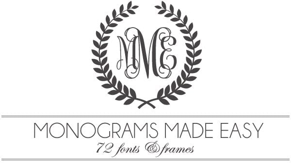 monograms made easy 72 fonts frames