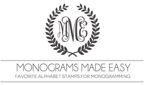 monograms made easy  alphabet stamps for monogramming