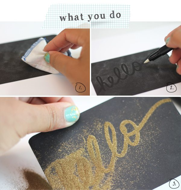 DIY Gold Embossed Handwritten Notecards | Damask Love Blog