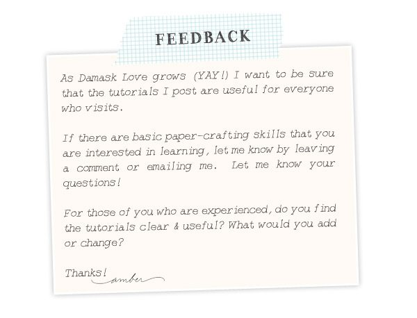 Damask Love Content Feedback