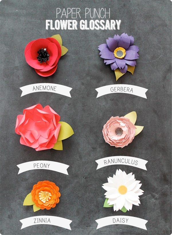 Easy Paper Punch Flowers | Damask Love Blog