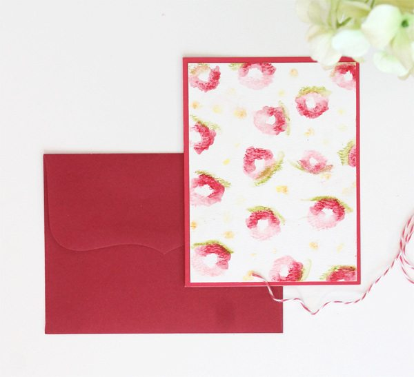 Abstract Florals Card with Faber-Castel Gelatos | Damask Love Blog