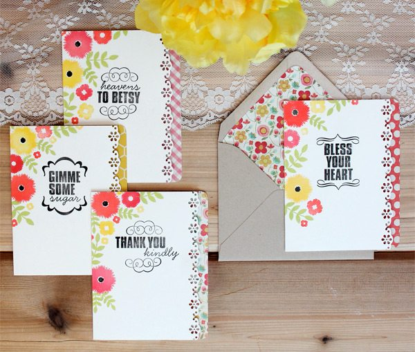 Southern Sass Stamped Stationery | Damask Love Blog