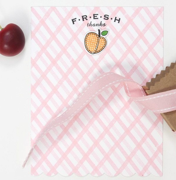 Fresh Fruit Stationery | Damask Love Blog