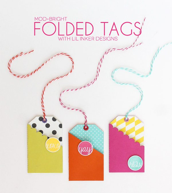 Mod & Bright Folded Tags | Damask Love Blog