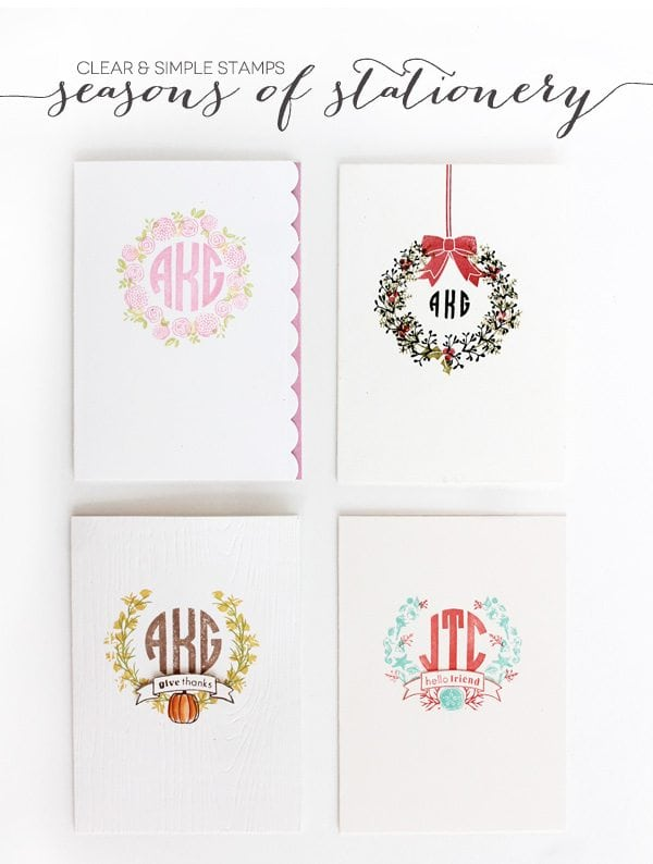 Clear & Simple: Seasons of Stationery Monograms