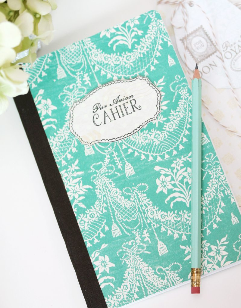 DIY Composition Notebooks | Damask Love Blog