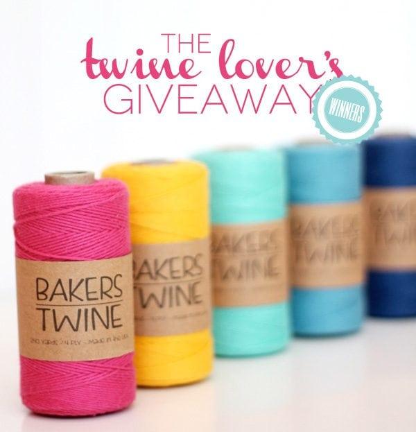 Twine Lover's Giveaway Winners
