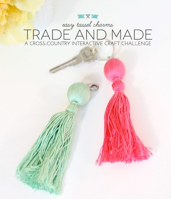 Trade & Made Blogger Challenge: Easy Tassel Charms