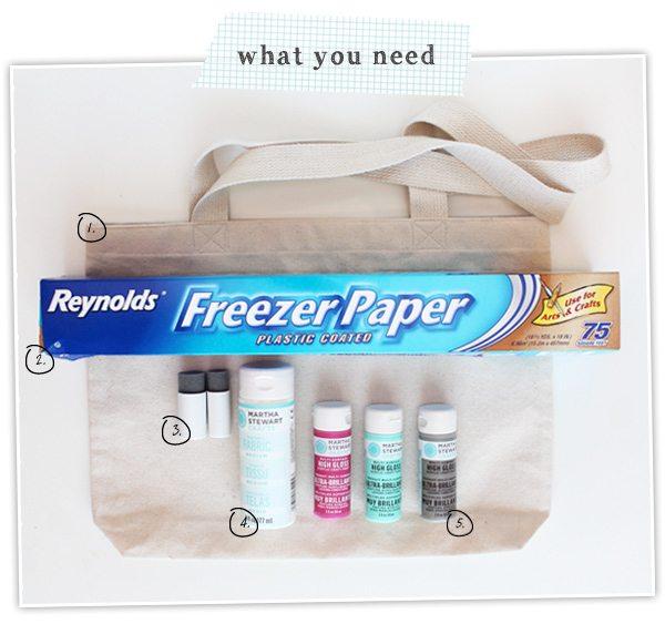 DIY Freezer Paper Tote | Damask Love Blog