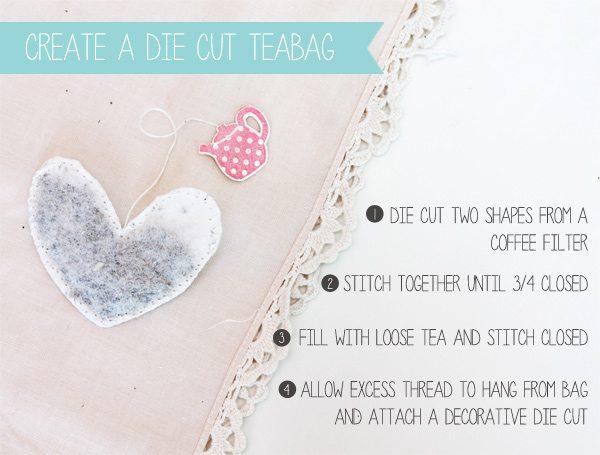 Die Cut Teabag | Damask Love Blog