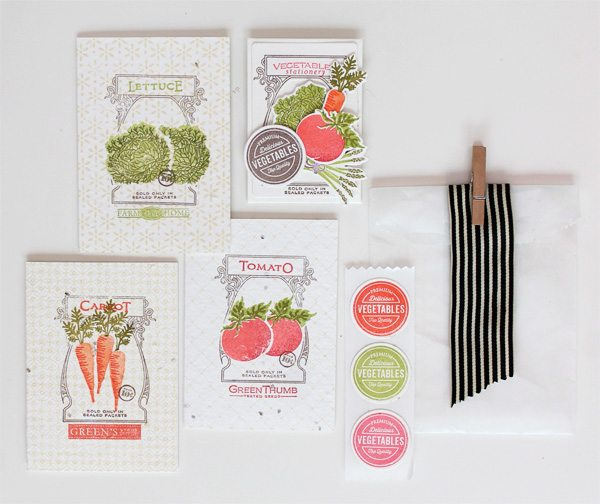 Farmer's Market Stationery | Damask Love Blog