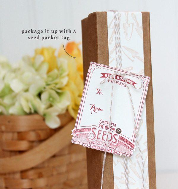 Paper Herb Garden in a Box | Damask Love Blog