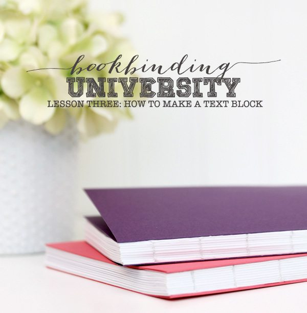 Bookbinding University: How to Make a Text Block