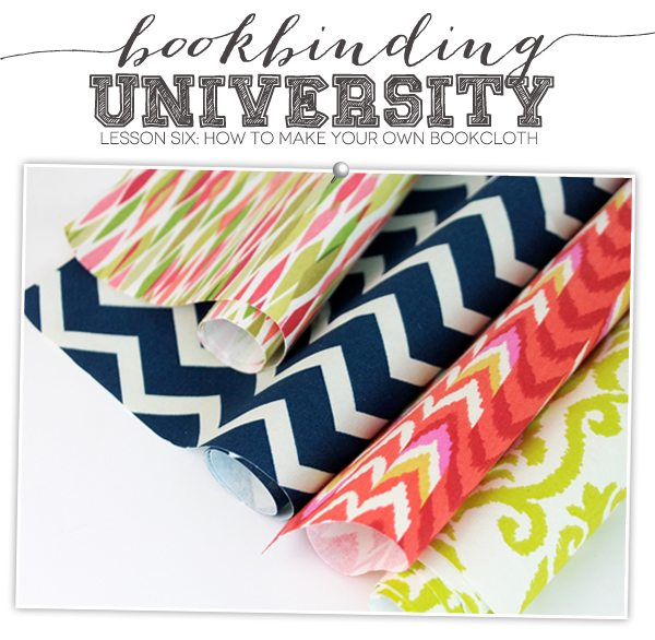 Bookbinding University: Make Your Own Bookcloth | Damask Love Blog