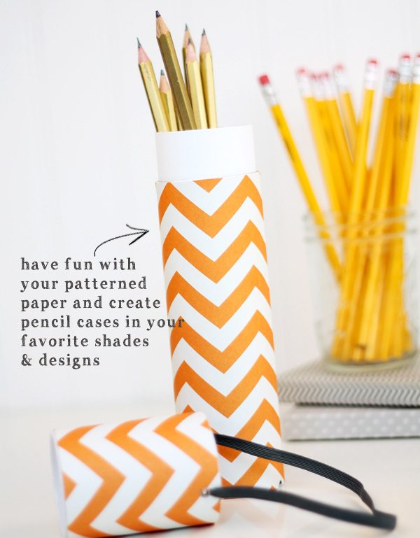 DIY Mail Tube Pencil Case | Damask Love Blog