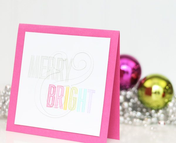 Toile Gift Guide: Merry & Bright Ampersand Card | Damask Love Blog