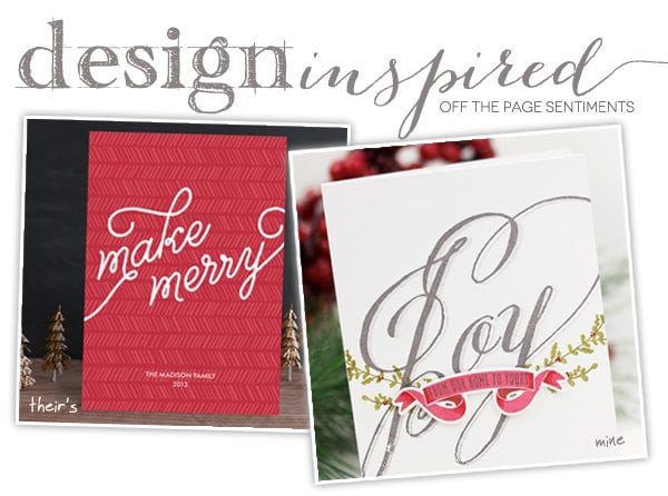 Design Inspired: Off the Page Sentiments & GIVEAWAY!