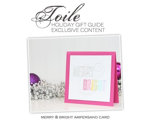 Toile Gift Guide: Merry & Bright Ampersand Card   Damask Love Blog
