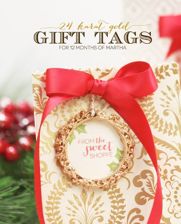 Gilded Gold Gift Tags
