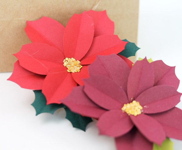 Easy Paper Punch Poinsettias | Damask Love Blog